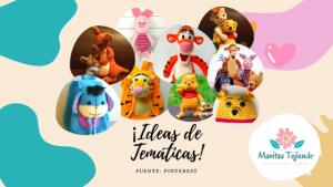 Winnie Pooh: muñecos amigurumis y accesorios tejidos