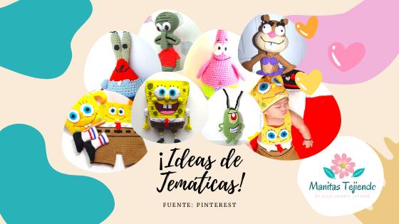 Bob Esponja: muñecos tejidos y disfraces