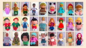 Clínica de muñecas: vestidos y pelucas