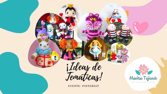 Alicia en el país de las maravillas: muñecos amigurumis y accesorios tejidos